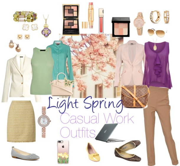 light-spring-casual-work-outfits