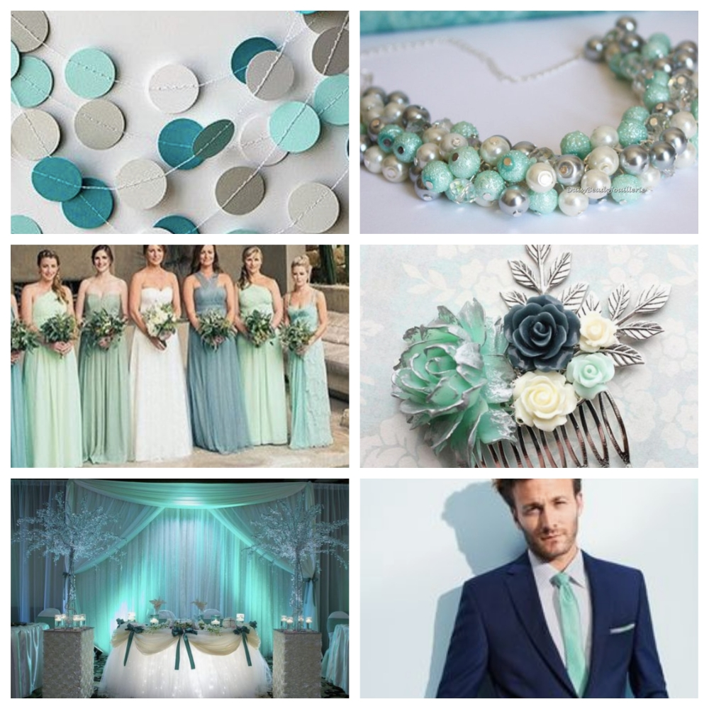 Wedding Color Scheme Collage